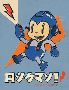 Udon`s Megaman Tribute Book Artwork - Vintage Megaman by Rey Misterio (Juan Molinet), via Flickr