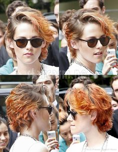 PHOTOS Kristen Stewart debuts short new 'do, before and after
