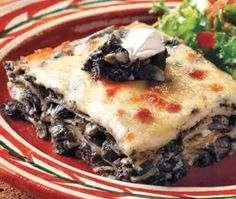 Lasagna de huitlacoche