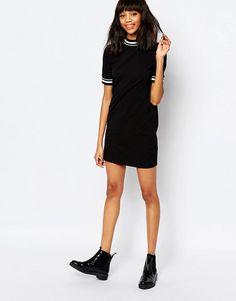 Image 4 ofMonki Contrast Stripe Mini Dress