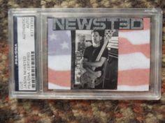 JASON NEWSTED-METALLICA- -AUTOGRAPHED SIGNED CUT-PSA/DNA