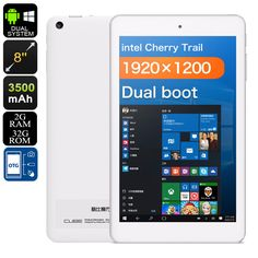 CUBE iWork8 Air Dual-OS Tablet PC - Licensed Windows 10 And Android 5.1, HDMI-Out, OTG, 3D Game Support, Quad-Core CPU, 2GB RAM - The CUBE iWork8 Air Dual-OS Tablet PC features both a Windows 10 and Android 5.1 operating system - offering you the best of both worlds.