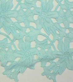 """Spring Sheen Cutwork Lace Fabric 43""""-Mint Floral"""