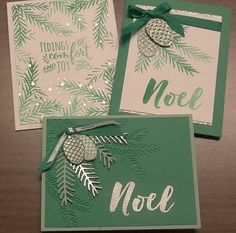 Emerald Envy Christmas Pines cards