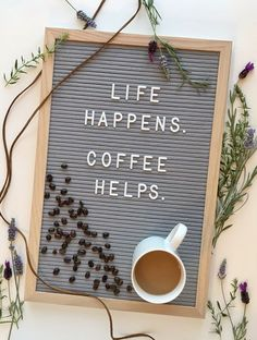Letter Case, Felt Letter Board, Felt Letters, Felt Boards, Word Board, Quote Board, Message Board, Inspirational Coffee Quotes, Coffee Shop Quotes