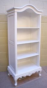 French Style White Tall Open Bookcase - Buy from the French Furniture Specialist: Nicky Cornell, Shabby Chic Furniture Specialists Painted Bedroom Furniture, Apartment Furniture, French Furniture, Refurbished Furniture, White Furniture, Repurposed Furniture, Cheap Furniture, Shabby Chic Furniture, Furniture Projects