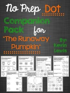 "Companion pack for ""The Runaway Pumpkin"" that targets TEN different skill areas!"