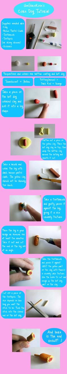 Corn Dog Tutorial  http://uneglacerose.deviantart.com/art/Corn-Dog-Tutorial-251838548