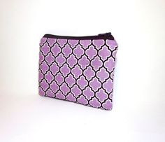 Small Zipper Pouch  Lattice in Lilac and by handjstarcreations, $8.50