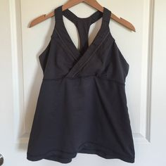 """LULULEMON """"Deep Breath"""" tank top Excellent pre-owned condition • pad inserts NOT included • smoke-free home  lululemon athletica Tops Tank Tops"""