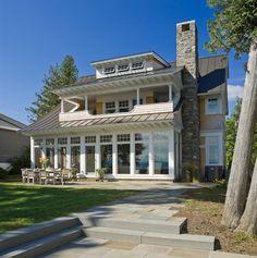 Lots and lots of cool windows.  Sunset Cliff- Burlington, VT - traditional - exterior - burlington - Birdseye Design