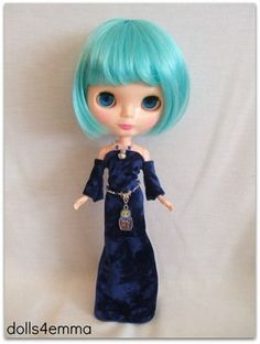 MATRYOSHKA - Handmade Gown and Belt and Necklace for Blythe Dolls.