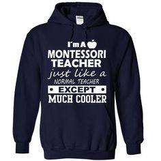 T-shirts Montessori Teacher Fashion Hot trend 2018