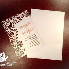 Exkluzív népi esküvői meghívó Invitation Design, Invitation Cards, Laser Cut Wedding Invitations, Place Cards, Fa, Place Card Holders, Laser Cutting, Dresses, Invitations
