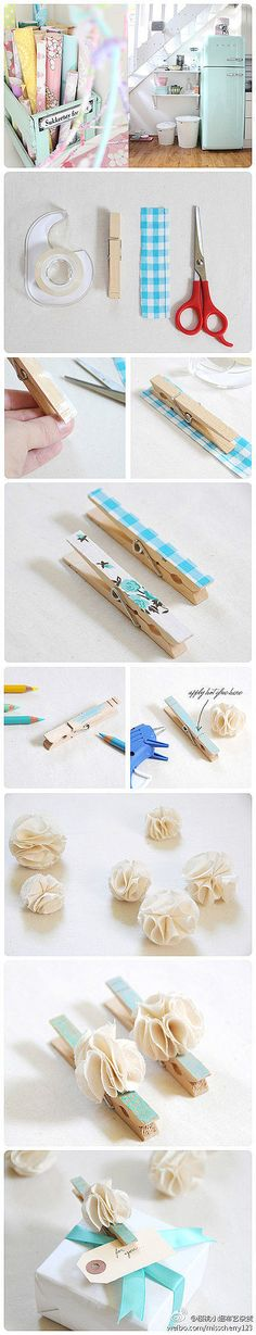 DIY - pinces decorades