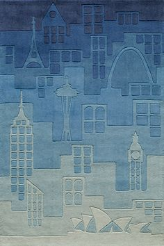 Rosenberry Rooms has everything imaginable for your child's room! Share the news and get $20 Off  your purchase! (*Minimum purchase required.) Hipster Blue Urban Landscape Rug