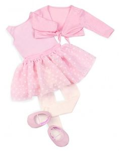 Our Generation Regular Outfit - Leotard w/ Skirt outfit fits american girl doll Dance Outfits, Skirt Outfits, Doll Outfits, Our Generation Doll Clothes, Ropa American Girl, Pink Leotard, Ballet Clothes, Ballet Fashion, Get Dressed
