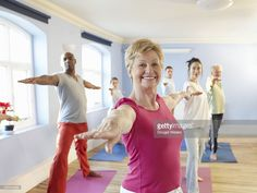 Exercise class being held in community centre.