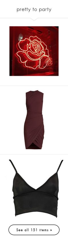 """""""pretty to party"""" by rowan-asha ❤ liked on Polyvore featuring backgrounds, pictures, pics, filler photos, photos, dresses, vestidos, burgundy, stretch dresses and red ruched dress"""