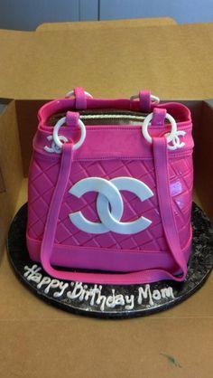 purse cake so classy High Heel Cakes, Shoe Cakes, Unique Cakes, Creative Cakes, Handbag Cakes, Purse Cakes, Cupcakes, Cupcake Cakes, Chanel Cake