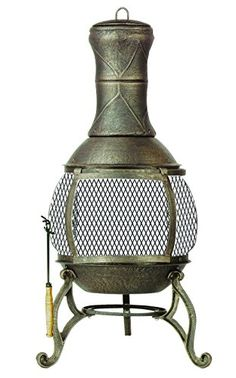 Outdoor Heaters - Deckmate Corona  Outdoor Chimenea  Fireplace Model  30075 *** You can get more details by clicking on the image. (This is an Amazon affiliate link)