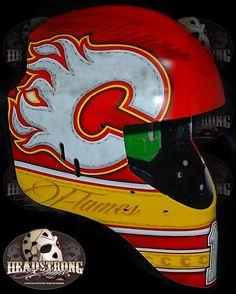 Calgary Flames goalie Jonas Hiller has a nice new mask! #NHL #Hockey