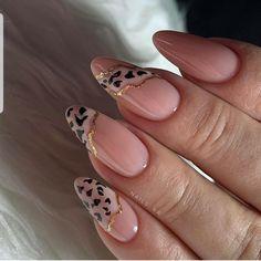 simple spring nail designs for short nails and long nails 8 Leopard Nails, Pink Nails, Gel Nails, Shellac, Nail Polish, Coffin Nails, Gorgeous Nails, Pretty Nails, Perfect Nails