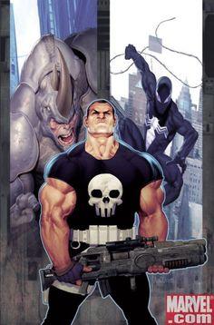 Justiceiro, Rino & Venom.
