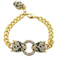 Add some glamour to your outfit with the fabulous Butler Wilson Crystal Leopard Heads Bracelet. Featuring Swarovski crystal,it fastens with a lobster clasp. Jewelry Gifts, Jewelry Accessories, Fine Jewelry, Jewellery, Daisy London, Butler & Wilson, Crystal Fashion, Lucky Charm, Animal Jewelry