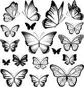 Tattoo sketches 159385274298106337 - set of butterflies silhouettes isolated on white background in vector format very easy to edit, individual objects Source by garancevoyageus Butterfly Sketch, Butterfly Tattoo Meaning, Butterfly Tattoo On Shoulder, Butterfly Tattoo Designs, Butterfly Art, Tattoo Outline Drawing, Outline Drawings, Dog Outline, Herz Tattoo