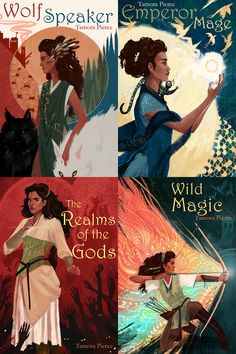 The Immortals Series by Tamora Pierce, art by Rose Frith || I NEED THIS OMG. SUCH GORGEOUS COVERS