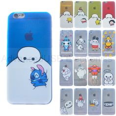 disney personnage Baymax étui souple en TPU Transparent pour Apple iPhone 5S/6+