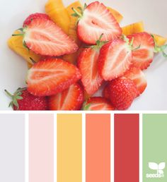 fresh cut color - color palette from Design Seeds Red Colour Palette, Color Palate, Colour Schemes, Color Combos, White Paint Colors, Bedroom Paint Colors, Bathroom Colors, Kitchen Colors, Bathroom Yellow