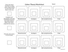Color Schemes Worksheet