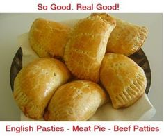English Pasties or Meat Pies. With lots of wholesome veggies and meats on the inside, and the flaky pastry crust on the outside, what's not to love?