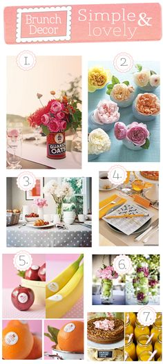 Add some decor to your Mother's Day brunch with any of these ideas