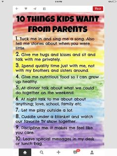 What kids desire from parents