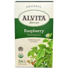Alvita Teas, Organic Raspberry, Caffeine Free, 24 Tea Bags, 1.41 oz (40 g)