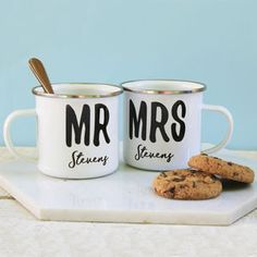 Personalised grid reference compass keyring mens accessories this wonderful set of personalised mr mrs enamel mugs are the perfect gift for the couple that are keen for adventure a great quirky wedding gift altern negle Images