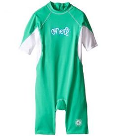 O'Neill Kids O'zone (Infant/Toddler/Little Kids) (Seaglass/White/Sky) Girl's Wetsuits One Piece