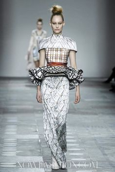 Mary Katrantzou-I LOVE this minus the wrap around the waist. The rest of the silhouette is stunning, especially the shoulders.