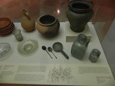 Utensilios de cocina romana    Museo Arqueológico de Barcelona