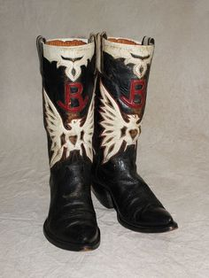 inlayed boots