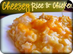 Cheesy Rice & Chicken - I had Sp crock pot version, but I think the oven version would be better.