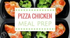 Pizza Chicken Meal Prep Recipe - Meal Prep on Fleek™ Lunch Recipes, Low Carb Recipes, Diet Recipes, Cooking Recipes, Healthy Recipes, Recipies, Skinny Recipes, Healthy Options, Clean Recipes