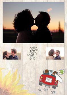 Grafiche per il sito wow personalizzato per Lisa e Vito