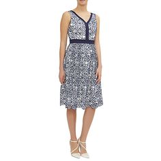 Buy Fenn Wright Manson Donatello Dress, Navy/Ivory Online at johnlewis.com