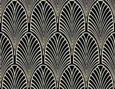 Bayhouse - Geometric Wallpaper Fabric Art Deco Wallpaper Fabric - Chameleon Collection
