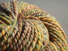 SALE Handspun Yarn superwash merino Cornucopia  no by GregoryRoad, $31.03