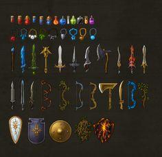 Set of items, by Rafał Urbański, on dribbble